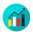 growth statistics circle icon vector image