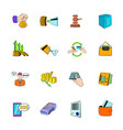 bank icons set cartoon vector image