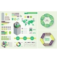 set of eco infographic vector image