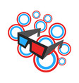 3d movie glasses vector image vector image