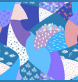 abstract hand drawn seamless patchwork pattern vector image