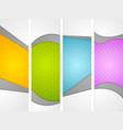 Abstract wavy corporate vertical banners vector image