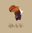 africa day black woman african map concept card