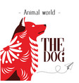 animal world the dog paper plane background vector image vector image