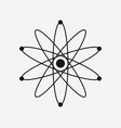 atom icon on white background vector image