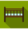 Baby bed flat icon vector image