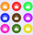 Birthday cake icon sign Big set of colorful vector image vector image
