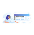 boarding pass concept young vector image