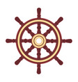 boat handwheel ship wheel helm vector image