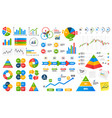 business data graphs financial and marketing vector image