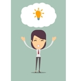 Business woman get an idea vector image