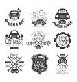 Car Wash Vintage Stamp Collection vector image vector image