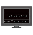 cardiogram on screen vector image