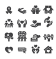 Charity Silhouette icons vector image vector image