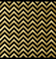 chevron black and gold pattern vector image vector image