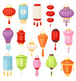 chinese lantern traditional colorful vector image vector image