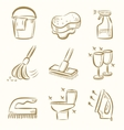 cleaning icon set vector image vector image