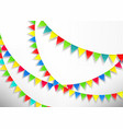 color flags on white background banner template vector image vector image