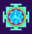 colored merkaba yantra vector image vector image