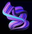colorful 3d flow dynamic curved wave vector image vector image