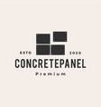 concrete panel hipster vintage logo icon vector image vector image