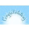 Congratulations lettering hand written design on a vector image vector image