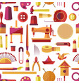 craft tools and handmade instruments hobby items vector image vector image