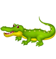 cute crocodile cartoon vector image