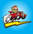 cute kid with his hot rods car vector image vector image