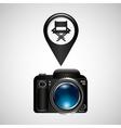 digital photo camera director movie chair vector image vector image