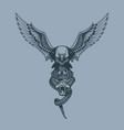 eagle with snake in claws tattoo style vector image vector image