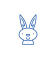 easter bunny line icon concept easter bunny flat vector image vector image