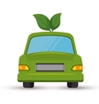 eco car leafs isolated icon vector image