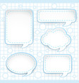 five different designs of speech bubbles vector image