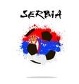 Flag of Serbia as an abstract soccer ball vector image vector image