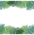 frame of green palm leaves hand drawing vector image vector image