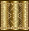 gold embroidery 3d panel pattern vector image vector image