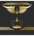 Golden design elements vector image
