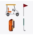 Golf design Sport icon Flat vector image vector image
