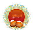 greeting design for happy janmashtami hindu vector image