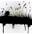 Grunge grass silhouette