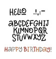 hand drawn doodle abc cut out font perfet vector image