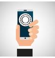 hand smartphone progress network social vector image vector image