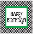 happy birthday frame vector image vector image
