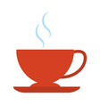 hot coffee cup beverage isolated flat style icon vector image
