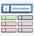Information Button vector image vector image