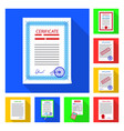 isolated object of form and document icon vector image vector image