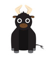 isolated stuffed bull toy vector image