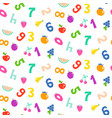 kid numbers and fruits bright seamless vector image