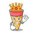 king ice cream tone mascot cartoon vector image vector image